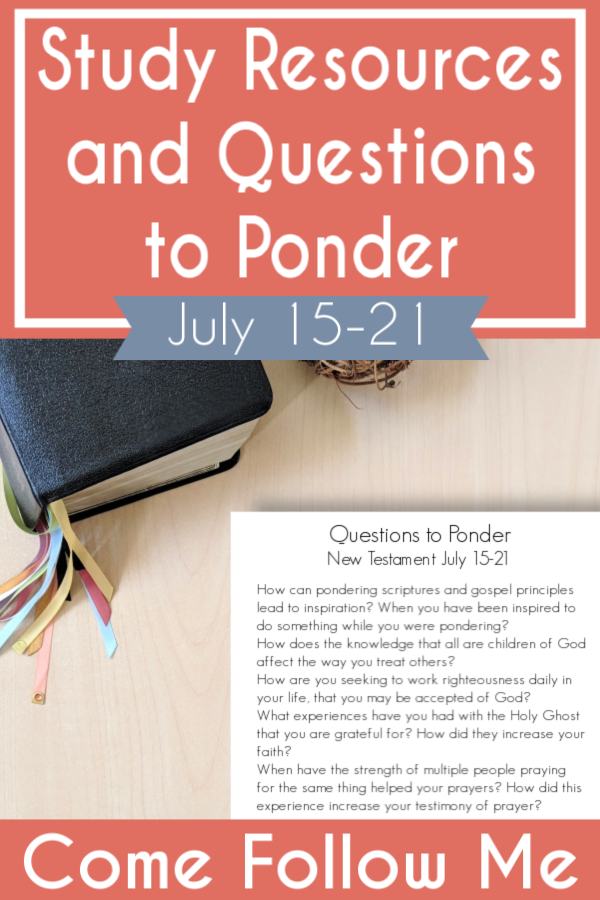 "Great list of study resources and questions to ponder for Acts 10-15 ""The Word of God Grew and Multiplied"" (July 15-21)- There are ideas for teaching your family too and free printables #teachlikeachicken #LDS #ComeFollowMe"