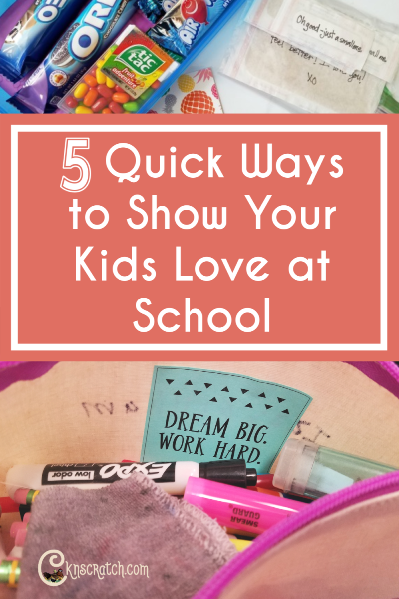 Love this quick ideas to show your kids love while they are away at school. It's the little things! #backtoschool #teachlikeachicken