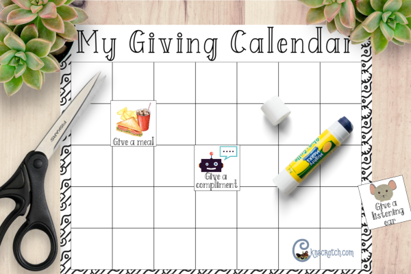 Like the idea of this Giving Calendar- gives you control while focusing on giving to others #teachlikeachicken #LDS #ComeFollowMe