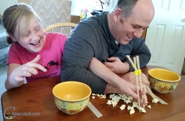 LOL! This looks like so much fun! Wacky twists on classic games with popcorn! #teachlikeachicken #FamilyFun #popcorn