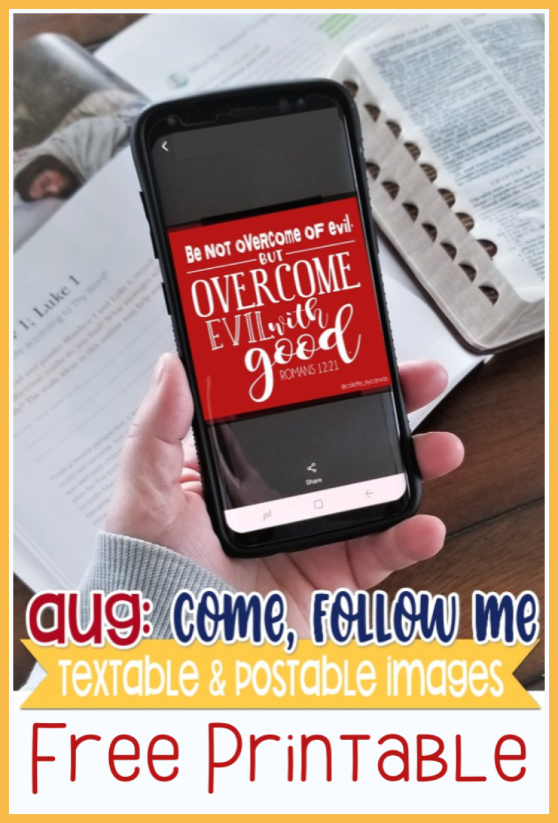 Great Come Follow Me images to text or email to your family or church class #teachlikeachicken #LDS #ComeFollowMe