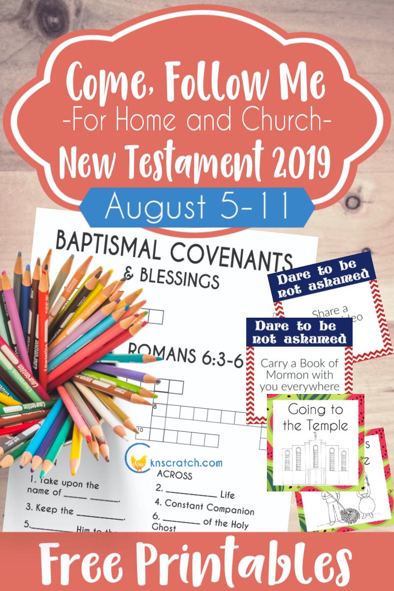 """Fabulous Come Follow Me lesson helps and free printables. I love the activity ideas and study suggestions for Romans 1-6 """"The Power of God unto Salvation"""" (August 5-11) #teachlikeachicken #LDS #ComeFollowMe"""