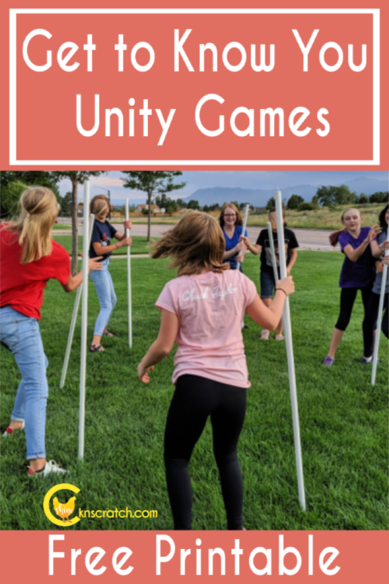 Great unity games to play and get to know each other! This would be great for Young Women's or Activity Days. #teachlikeachicken #LDS #YoungWomens
