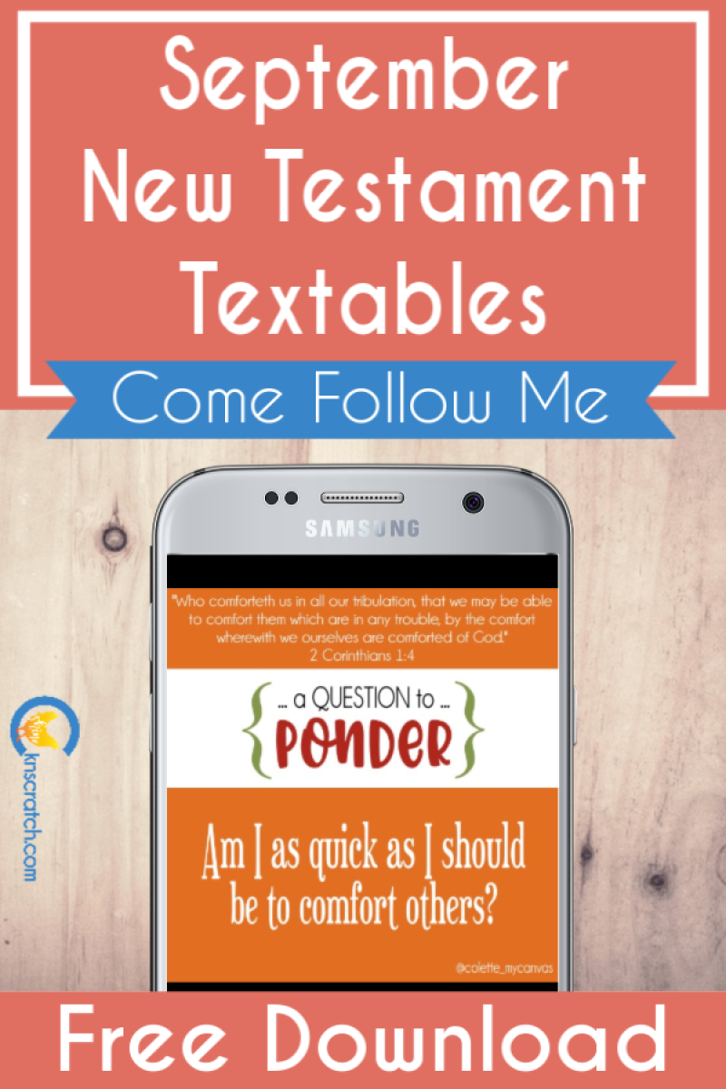 More free Come Follow Me textables for September- love these! #teachlikeachicken #LDS #ComeFollowMe