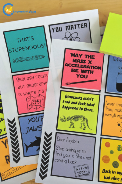 These are so great! Back to school sticky notes for teens (although some younger ages could use these too) #teachlikeachicken #backtoschool #stickynotes