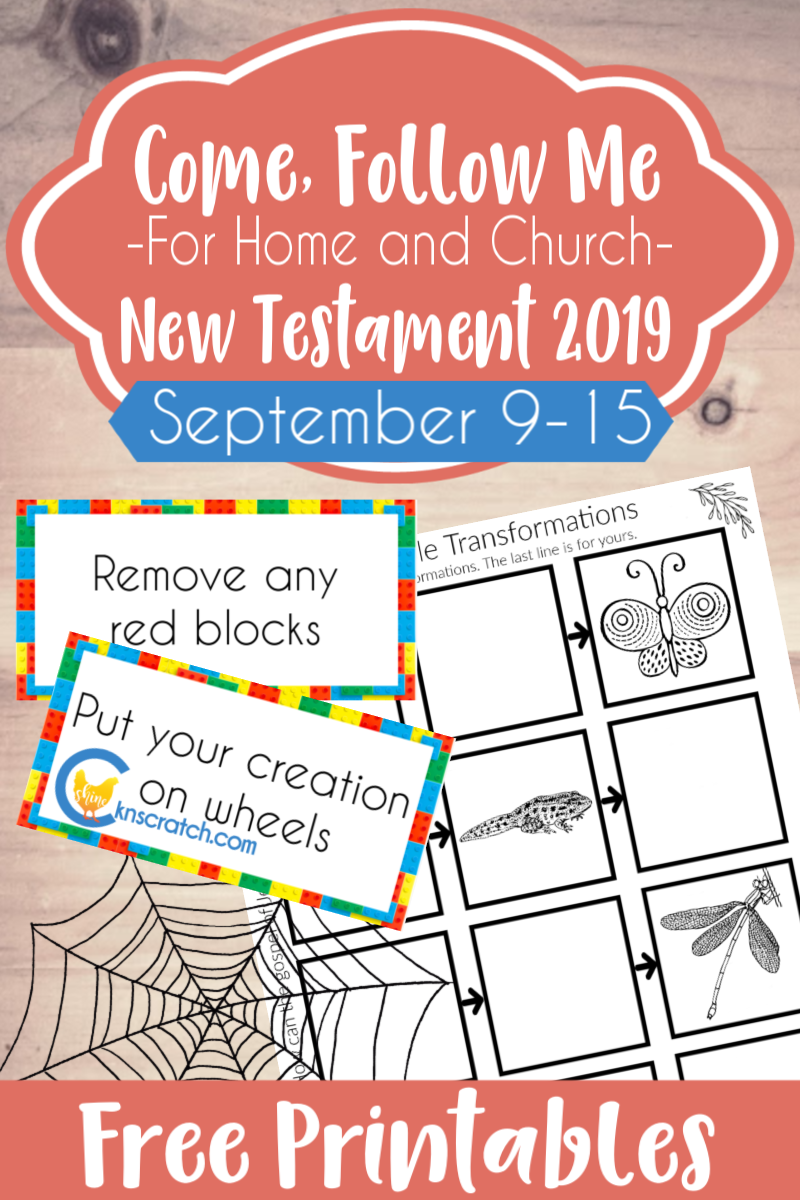 """Great activity ideas and free printables to really cement these scripture lessons in for Come Follow Me lesson 2 Corinthians 1-7 """"Be Ye Reconciled to God"""" (September 9-15) #teachlikeachicken #LDS #ComeFollowMe"""