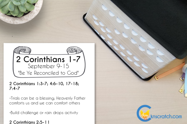 """Love this weekly review sheet to quickly plan and review the Come Follow Me lessons! This is for September 9-15 """"Be Ye Reconciled to God"""" #teachlikeachicken #LDS #ComeFollowMe"""