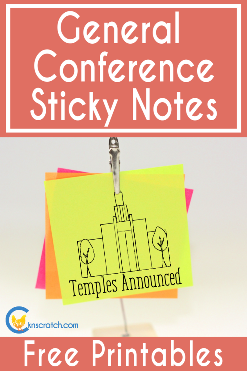 Love these! Sticky notes to put in your General Conference notebook. Super helpful and easy #teachlikeachicken #LDS #GeneralConference