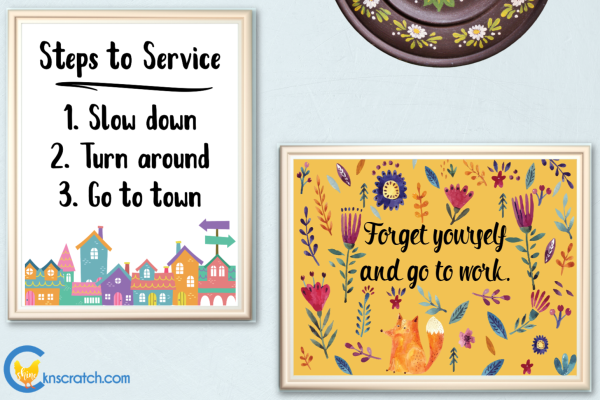 Love these posters to remind us to stop and serve more #teachlikeachicken #LDS #service