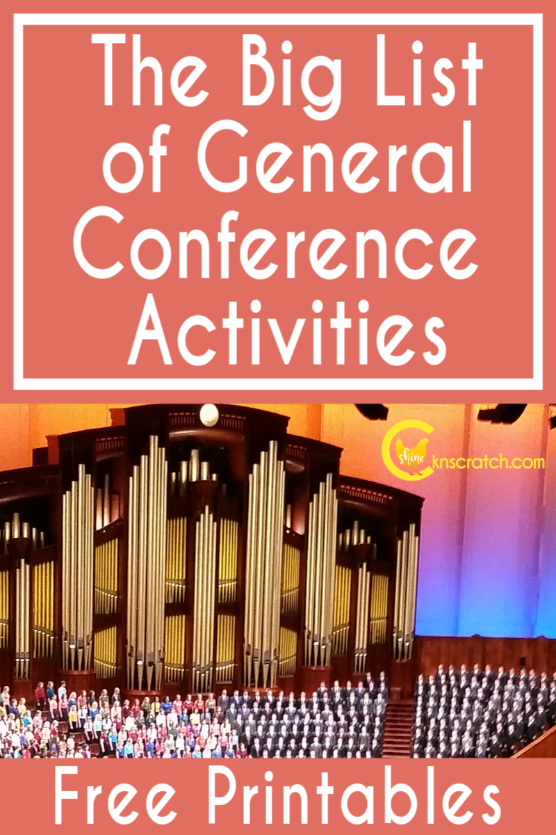 Love this list of General Conference activity printables. The countdown and apostle dolls are so great! #teachlikeachicken #LDS #GeneralConference