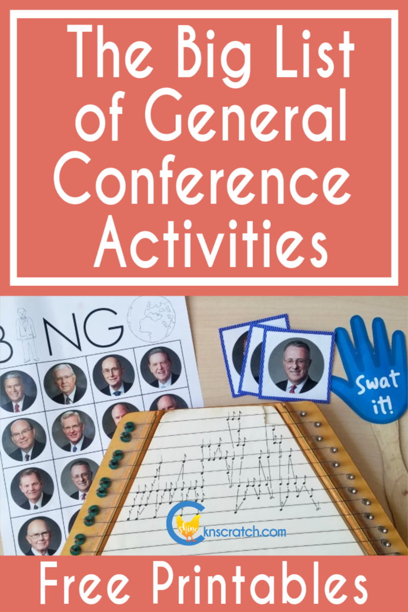 So many great great General Conference activities! Definitely keeping this list saved! #teachlikeachicken #LDS #GeneralConference