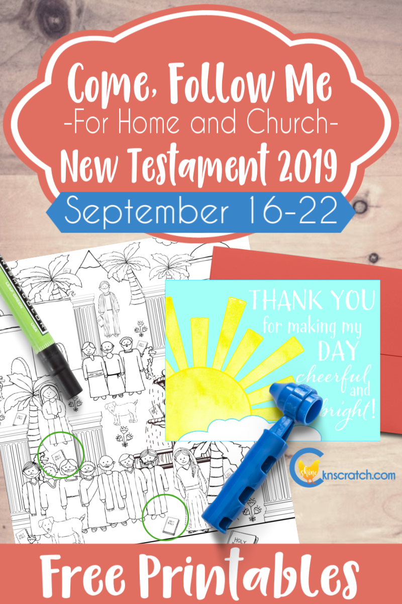 "Love these Come Follow Me ideas and free printables to help with the weekly lessons. This one is for 2 Corinthians 8-13 ""God Loveth a Cheerful Giver"" (September 16-22) #teachlikeachicken #LDS #ComeFollowMe"