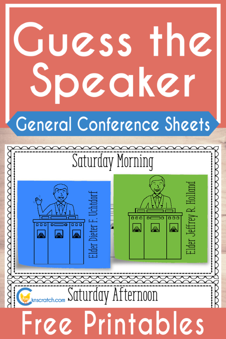 Love these pages for General Conference- Guess the Speakers each session and more #teachlikeachicken #LDS #GeneralConference