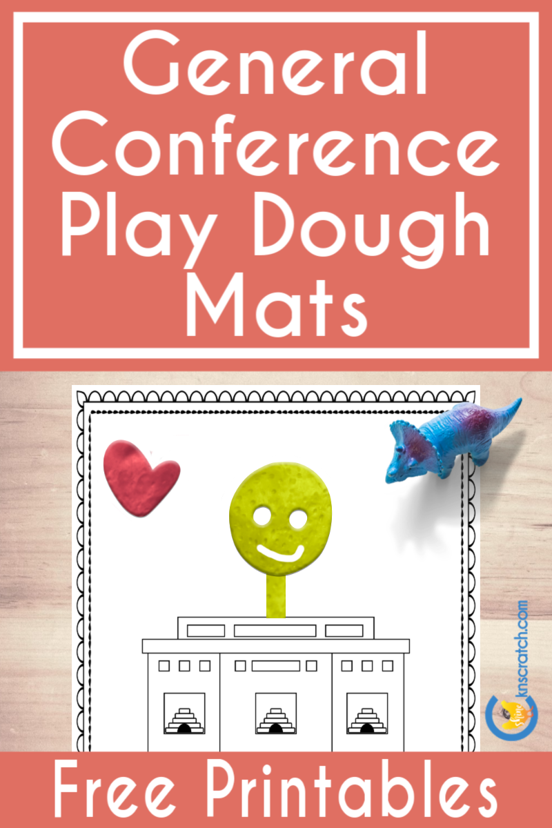 Fun! Free play dough mats to use for General Conference weekend. #teachlikeachicken #LDS #GeneralConference