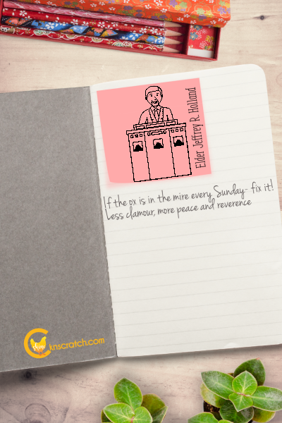 Love this! General Conference Sticky Notes for note taking and a fun game #teachlikeachiken #LDS #GeneralConference