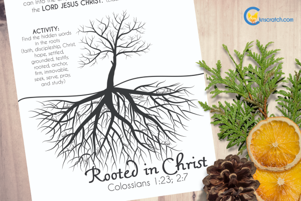 Love this printable for talking about being rooted in Christ. Goes with Come Follow Me Philippians; Colossians (October 14-20) #teachlikechicken #LDS #ComeFollowMe