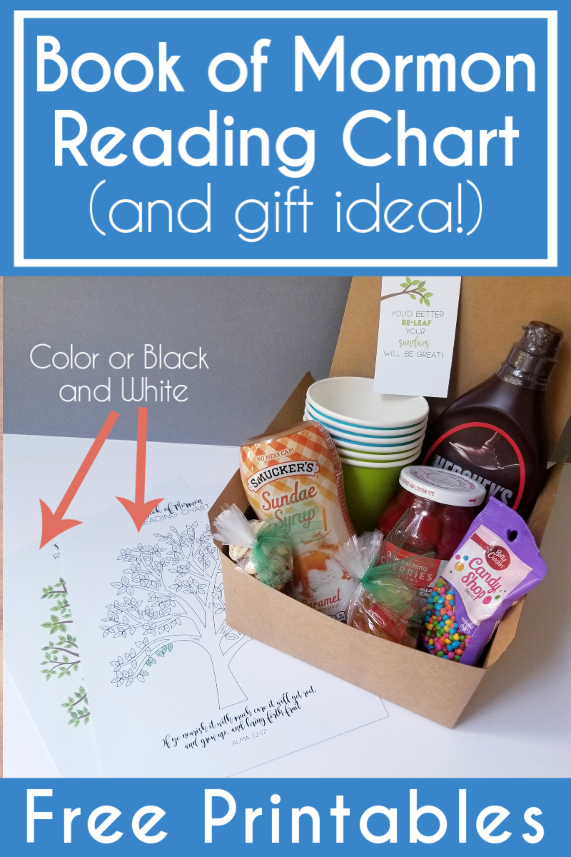 of Mormon Reading Chart and Gift Idea