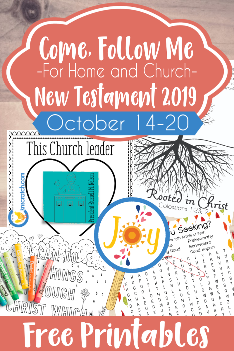 """So many great ideas and free printables to teach about Philippians and Colossians- Come Follow Me lesson """"I Can Do All Things Through Christ Which Strengtheneth Me"""" (October 14-20) #teachlikeachicken #LDS #ComeFollowMe"""