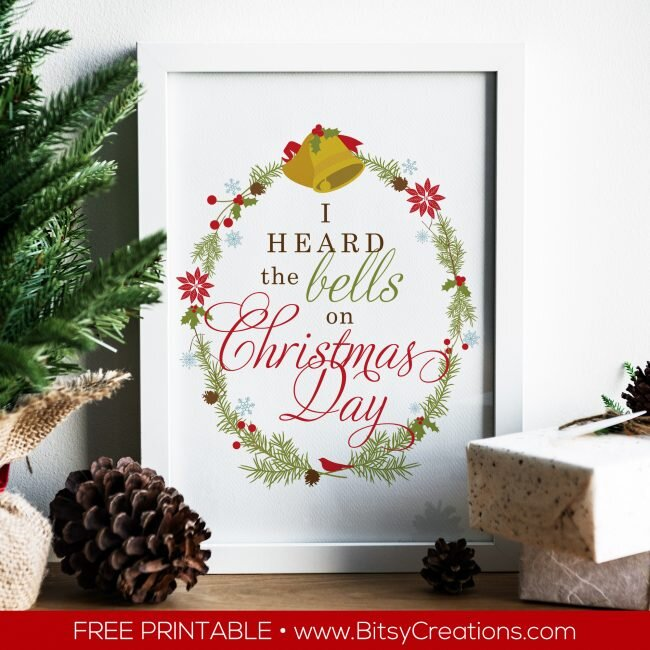Free Christmas printable from BitsyCreations