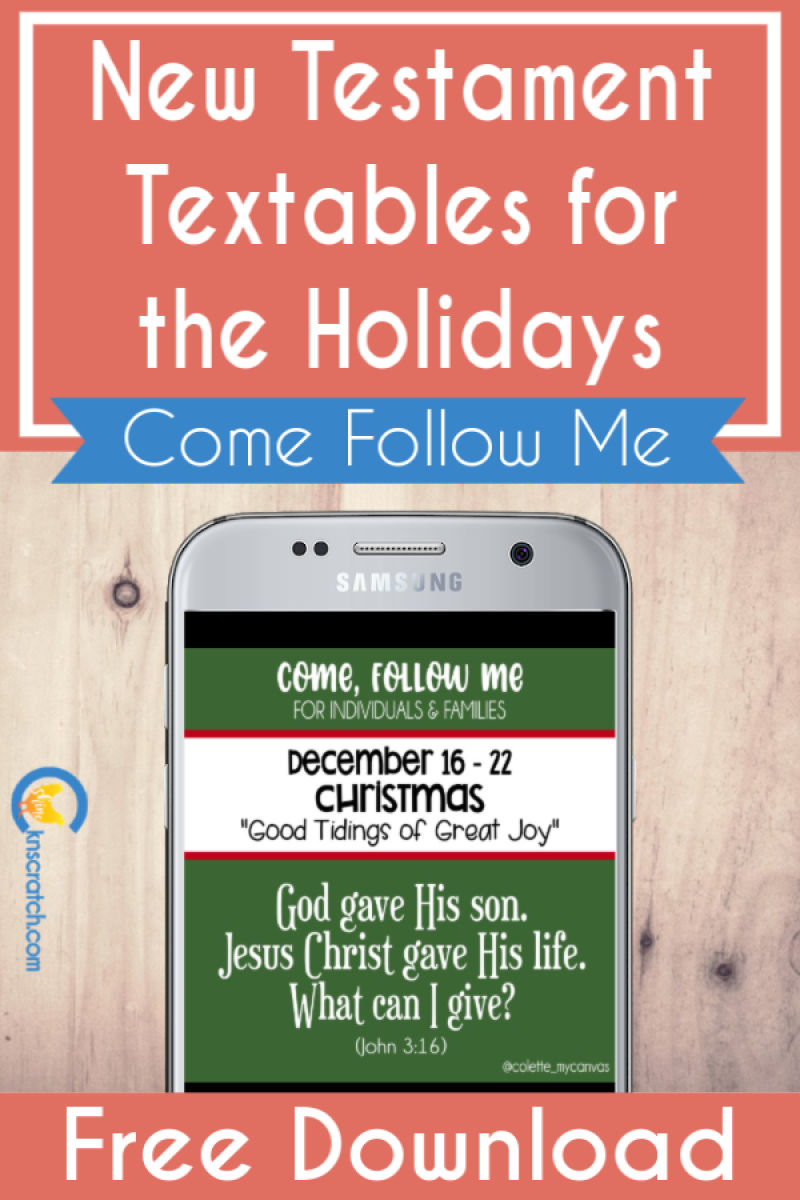 Great New Testament Textables to share the Come Follow Me lessons. I love sending these to my teens #teachlikeachicken #LDS #ComeFollowMe