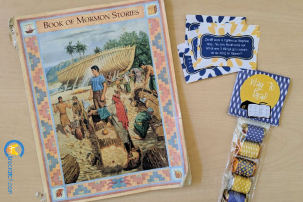 Ah, I remember using this version of the Book of Mormon. Love the discussion cards and candy wrappers too- great list of Book of Mormon resources for Come Follow Me #teachlikeachicken #BookofMormon #ComeFollowMe