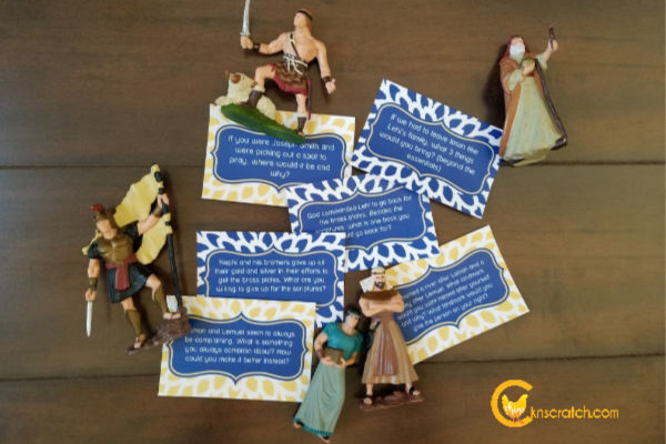 Fun idea! Book of Mormon discussion cards to get you talking about the Book of Mormon more often and in new ways. #teachlikeachicken #LDS #BookofMormon