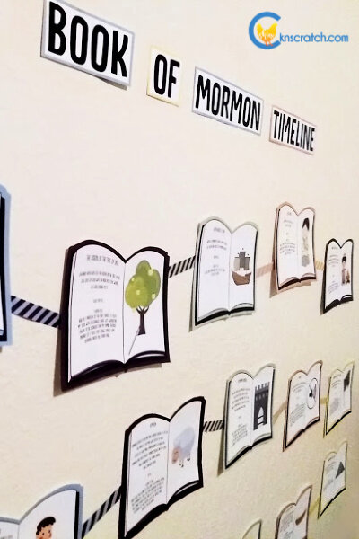 I love that you can put this Book of Mormon timeline on the wall! It would be great for a Primary bulletin board. #teachlikeachicken #BookofMormon #ComeFollowMe