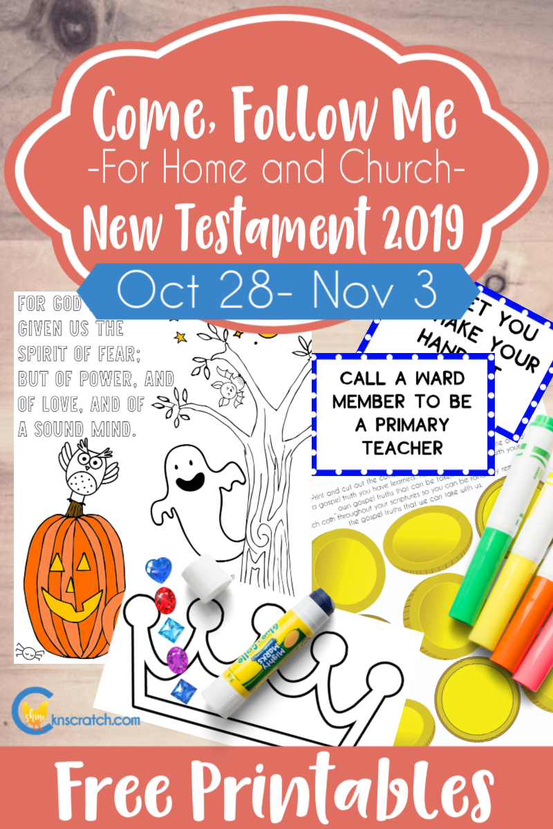"""Great helps and free printables to teach Come Follow Me """"Be Thou an Example"""" 1 and 2 Timothy; Titus; Philemon (October 28- November 3) #teachlikeachicken #ComeFollowMe #LDS"""