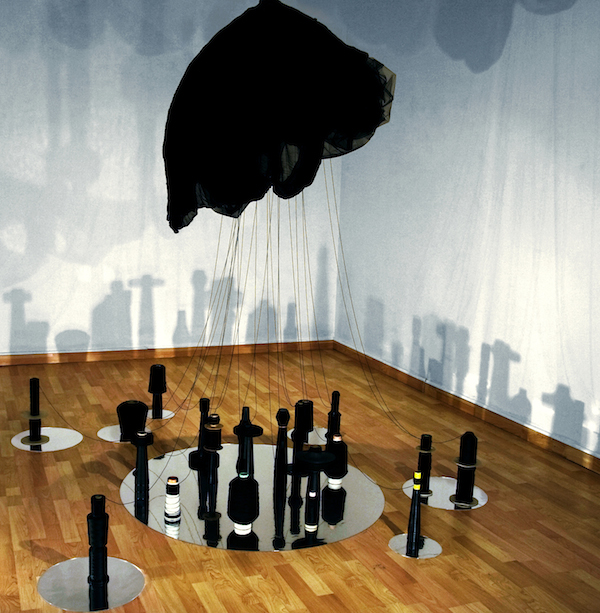 JOAN KAUFMAN, CLOUD CONTROL,  2014 Mixed media, site dimensions 9 x 16 x 11.5 feet
