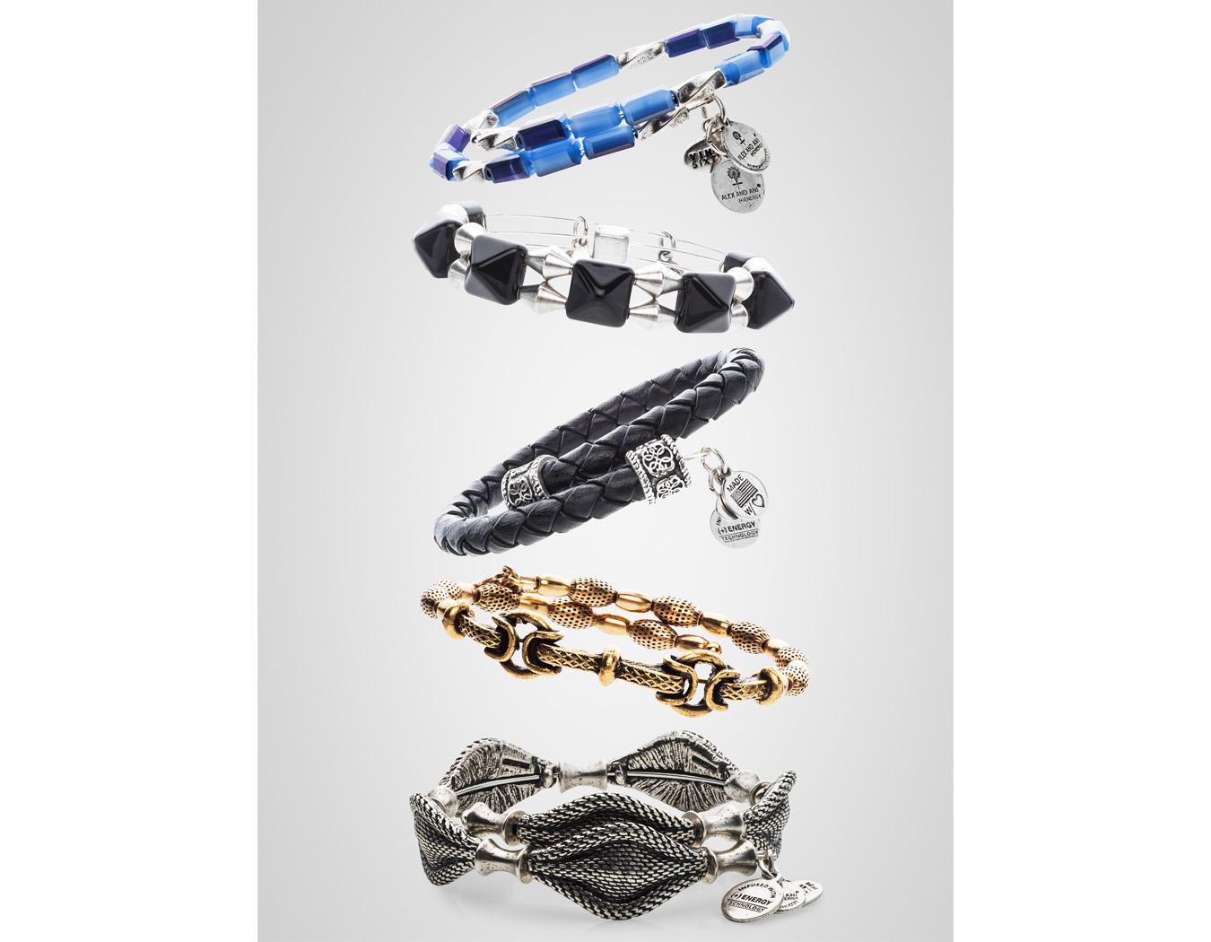 Alex & Ani bracelet stack