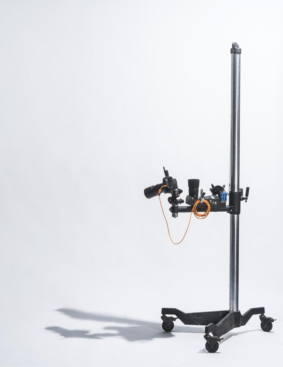 Studio stand and camera