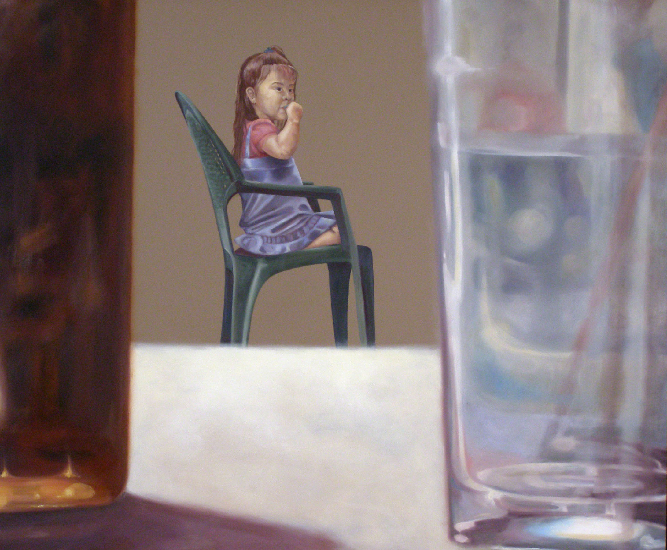 """Alone Together: March 25th, 3:00pm , 38 """"x 46 """", oil on laminate, 2007"""