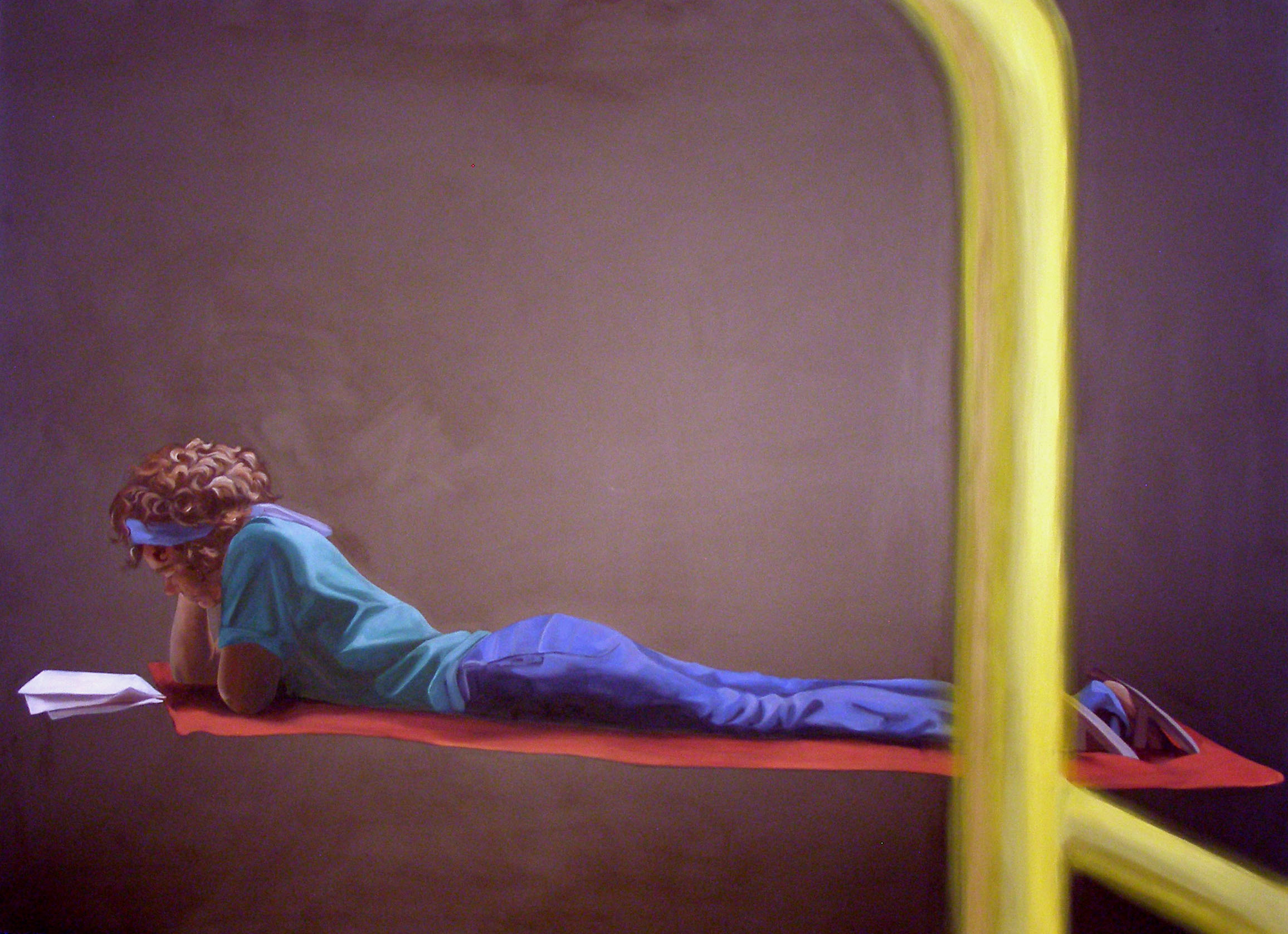"""Alone Together: July 14th, 2:23pm, 34""""x 46"""", oil on laminate, 2007"""