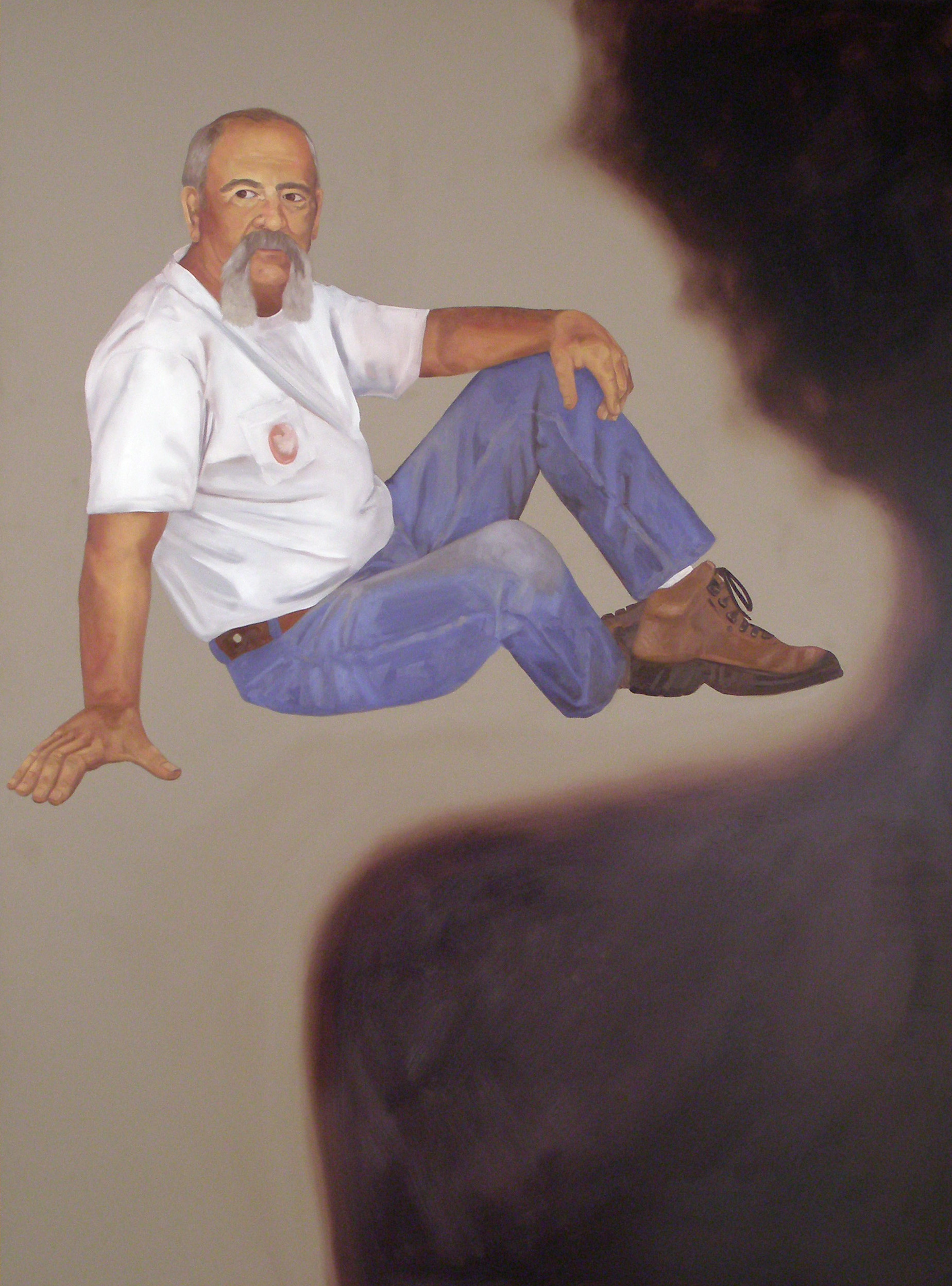 """Alone Together: September 16th, 8:32pm, 46""""x 34"""", oil on laminate, 2007"""
