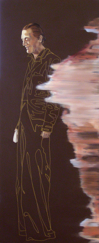 "November 13th, 7:45pm, 24 ""x 10 "", oil on laminate, 2008"