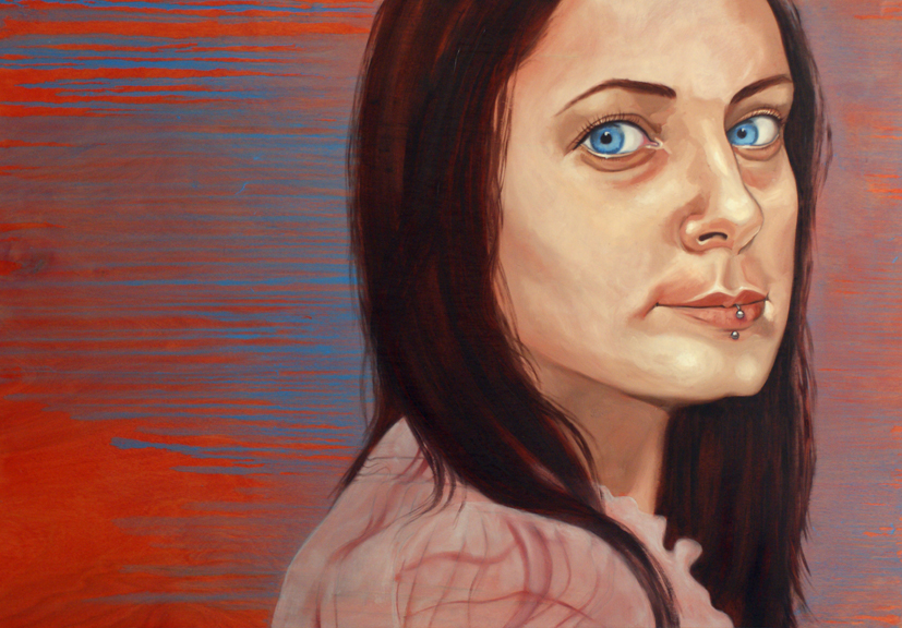 "Macon, 24"" x 32"", acrylic and oil on wood, 2011"
