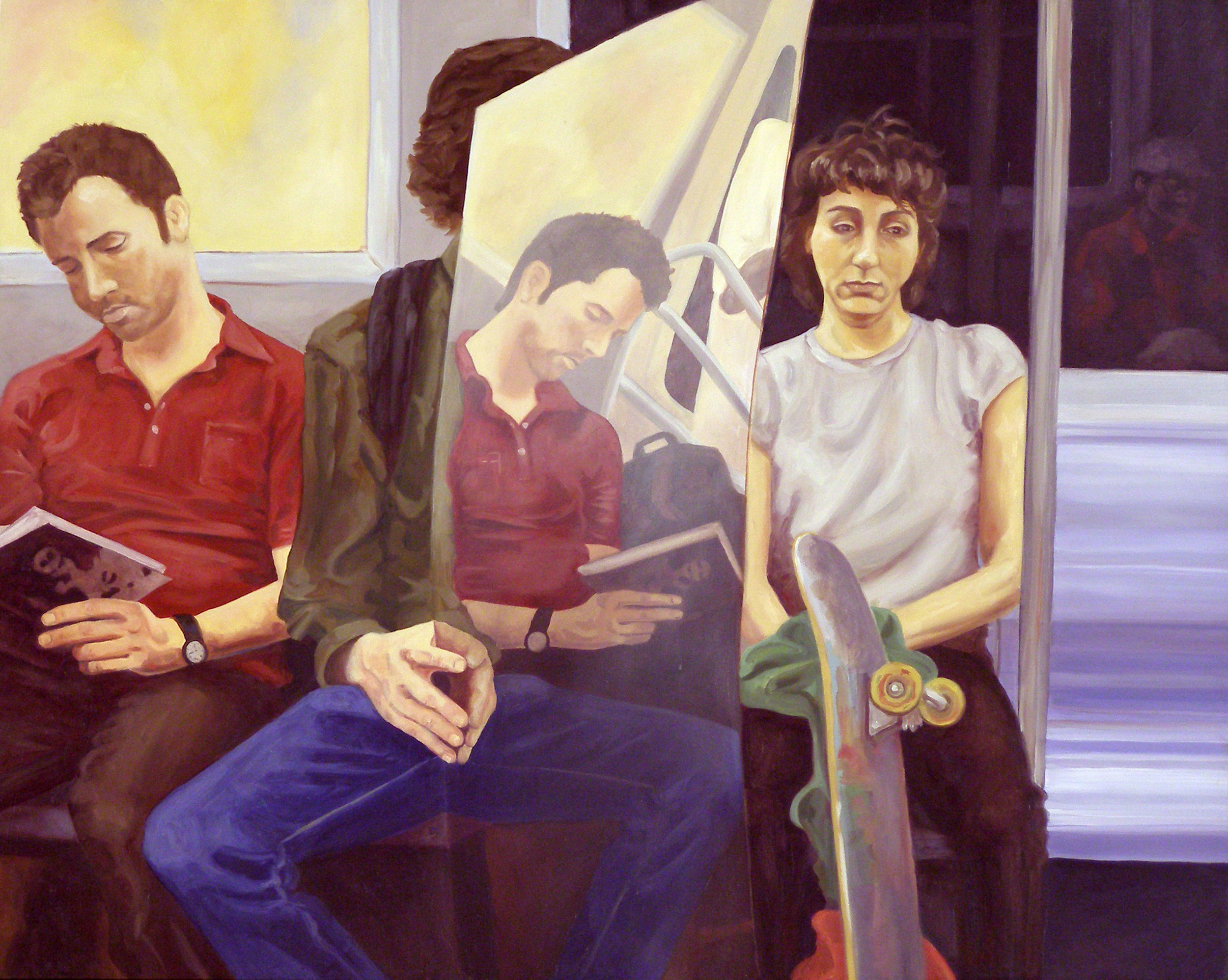 "Circus Mirror, 18x24"", oil on panel, 2006"