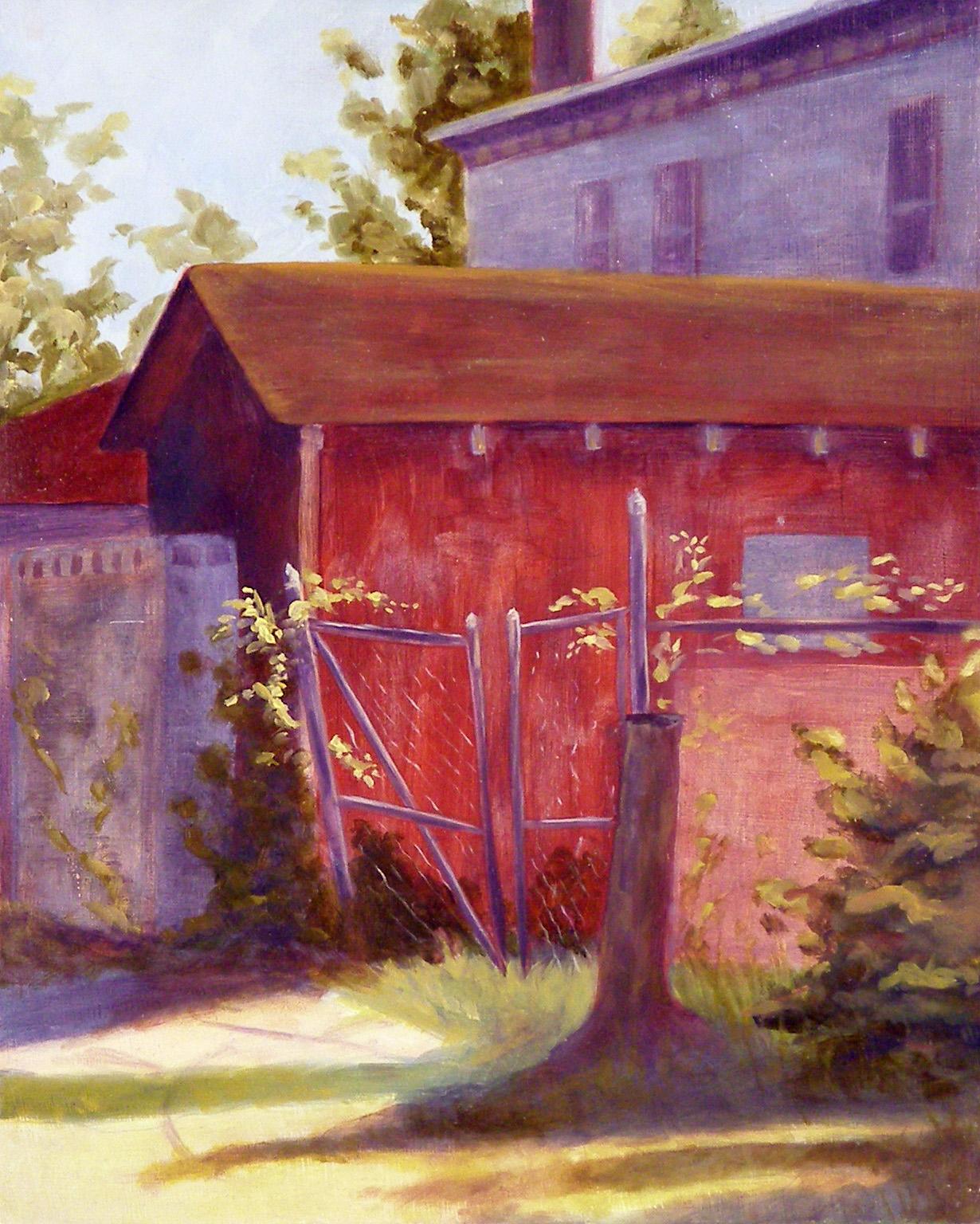"""Dooley Ln, 8x10"""", oil on panel, 2005"""