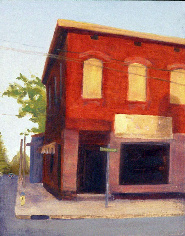 "Montgomery St, 8x10"", oil on panel, 2005"