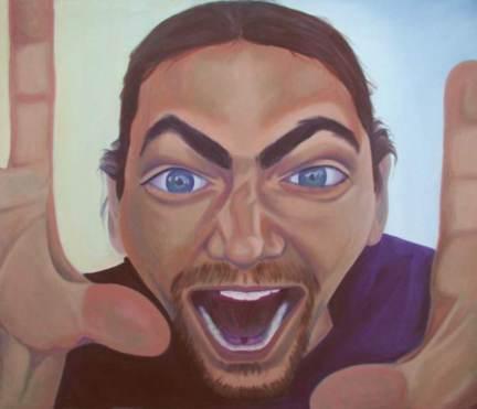 "Caleb, 30x35"", oil on canvas, 2001"