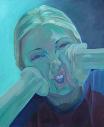 "Julie, 24x18"" oil on canvas, 1999"