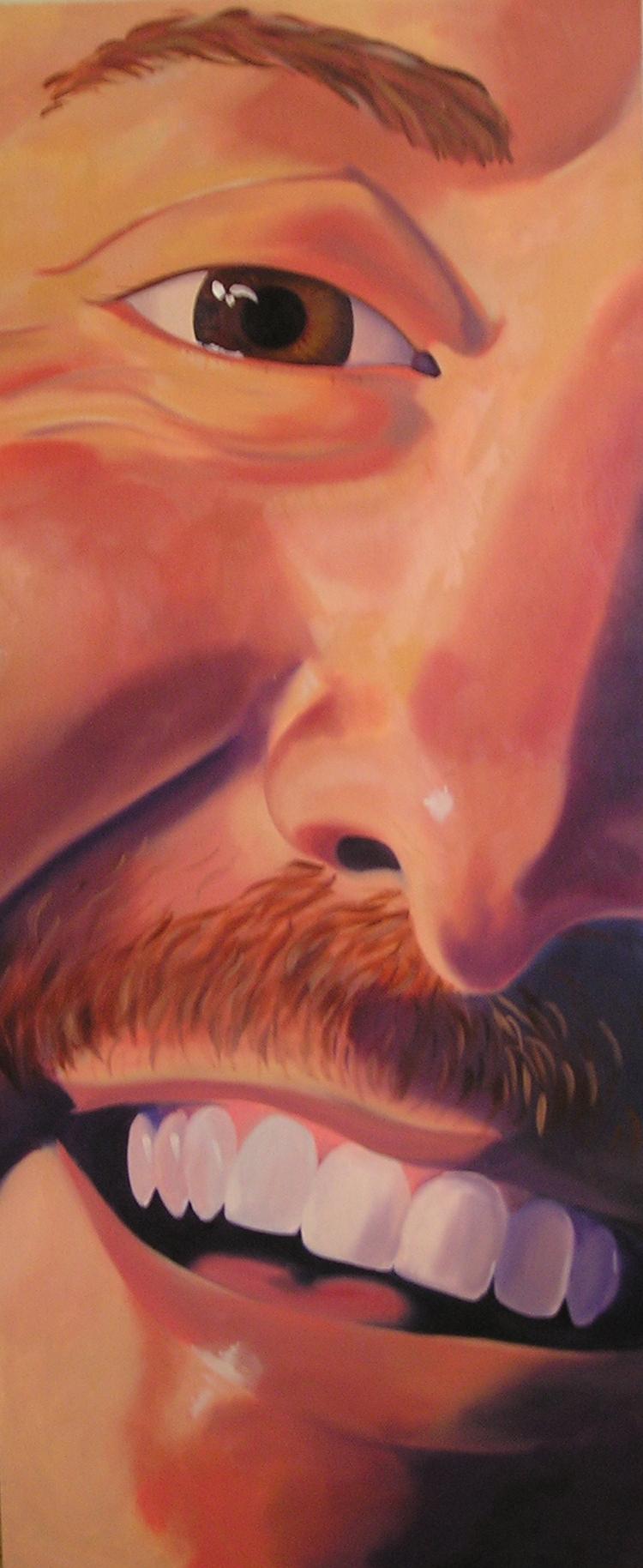 """Mark, 48x18"""", oil on canvas, 2002"""