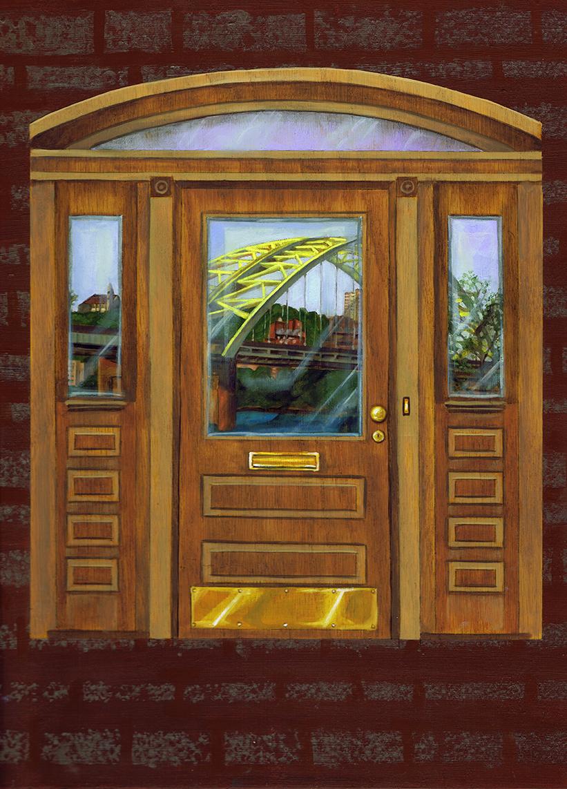 "Big Mac, 16"" x 12"", oil and acrylic on panel, 2015"