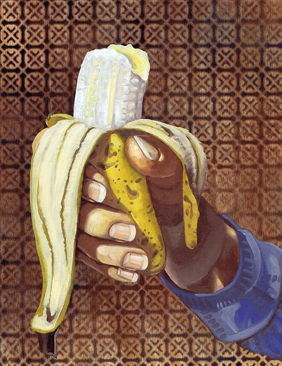 "Banana, 14 x 11"", oil on panel, 2016"