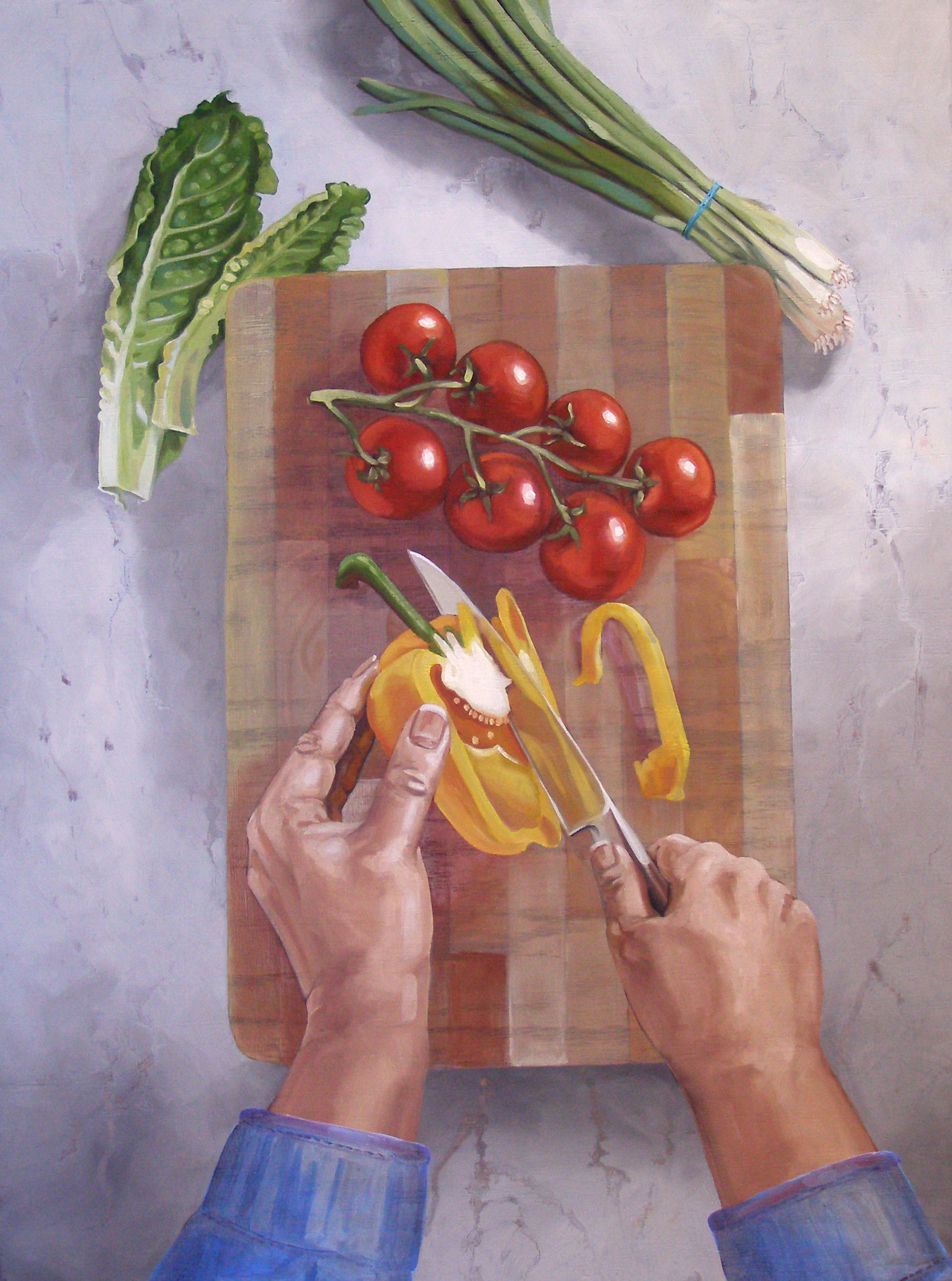 """Healthy Living, 24x20"""", Oil on Panel, 2018"""