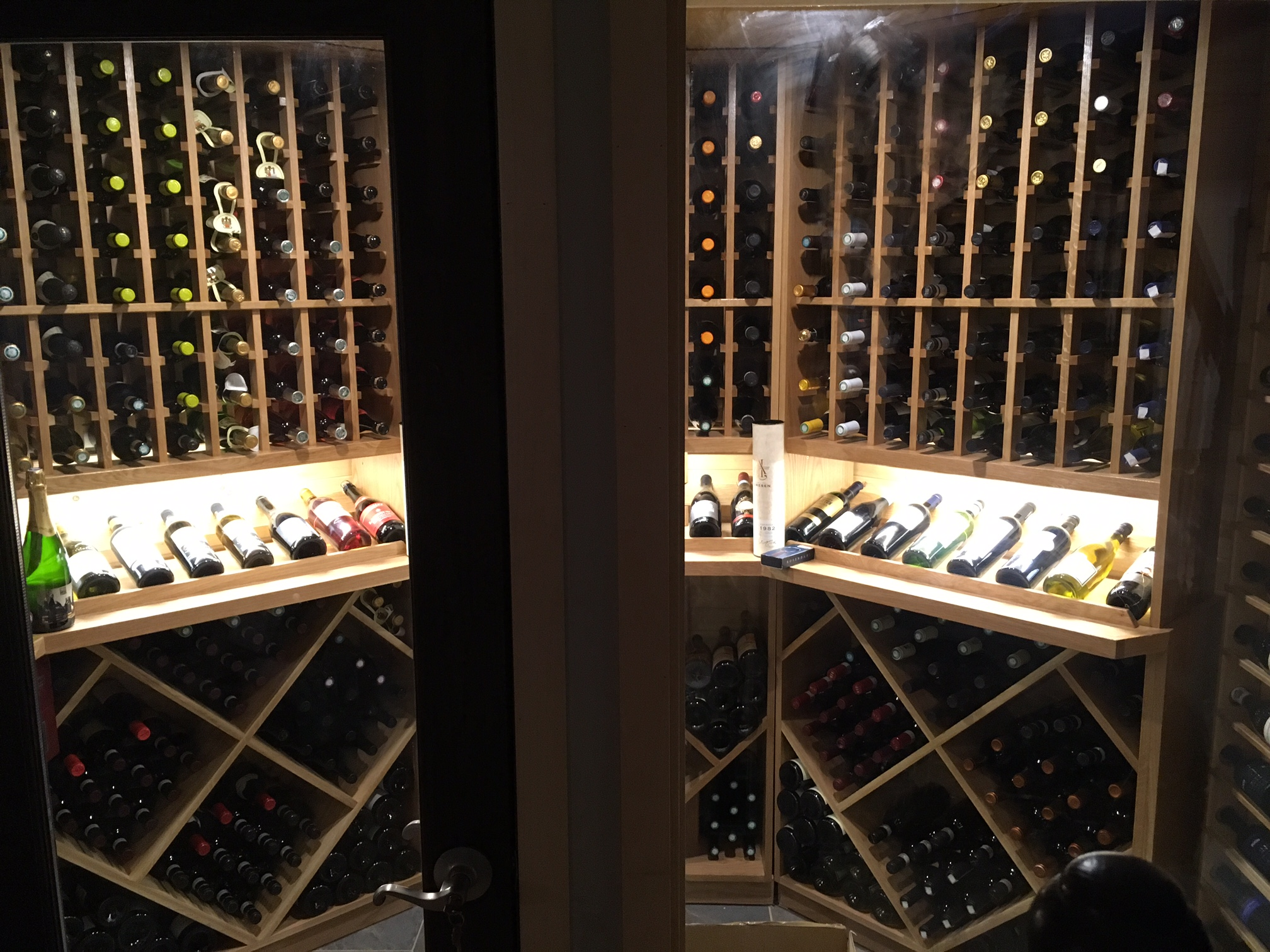 600 Bottle Wine Cellar in White Oak