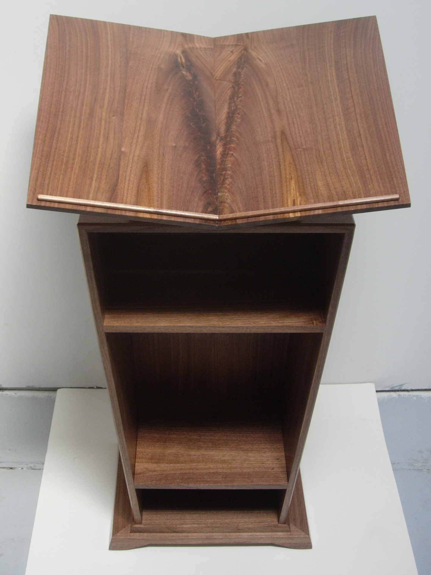 Walnut Atlas Stand