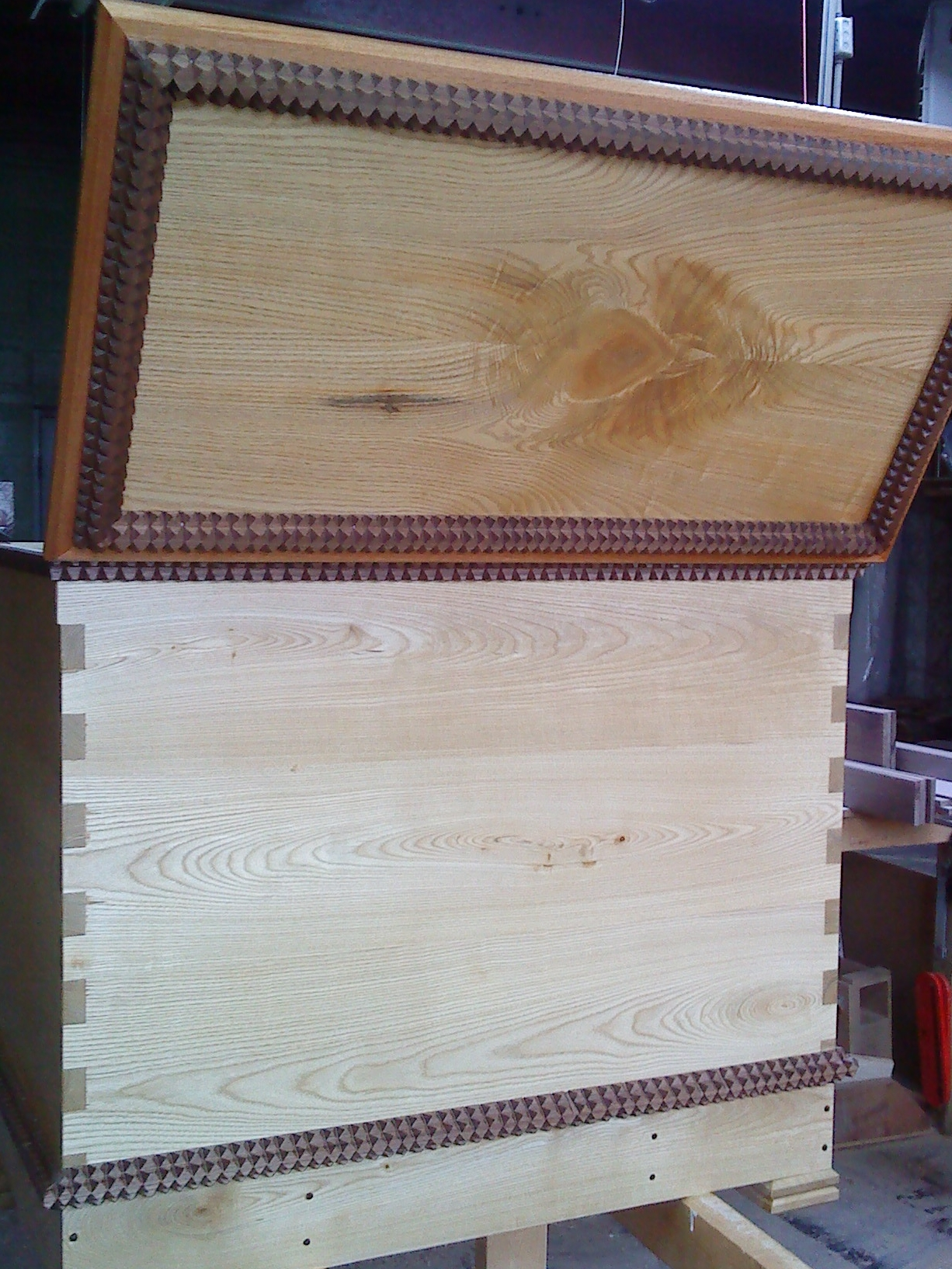 Blanket Chest in Sassafras, Walnut, and Spanish Cedar
