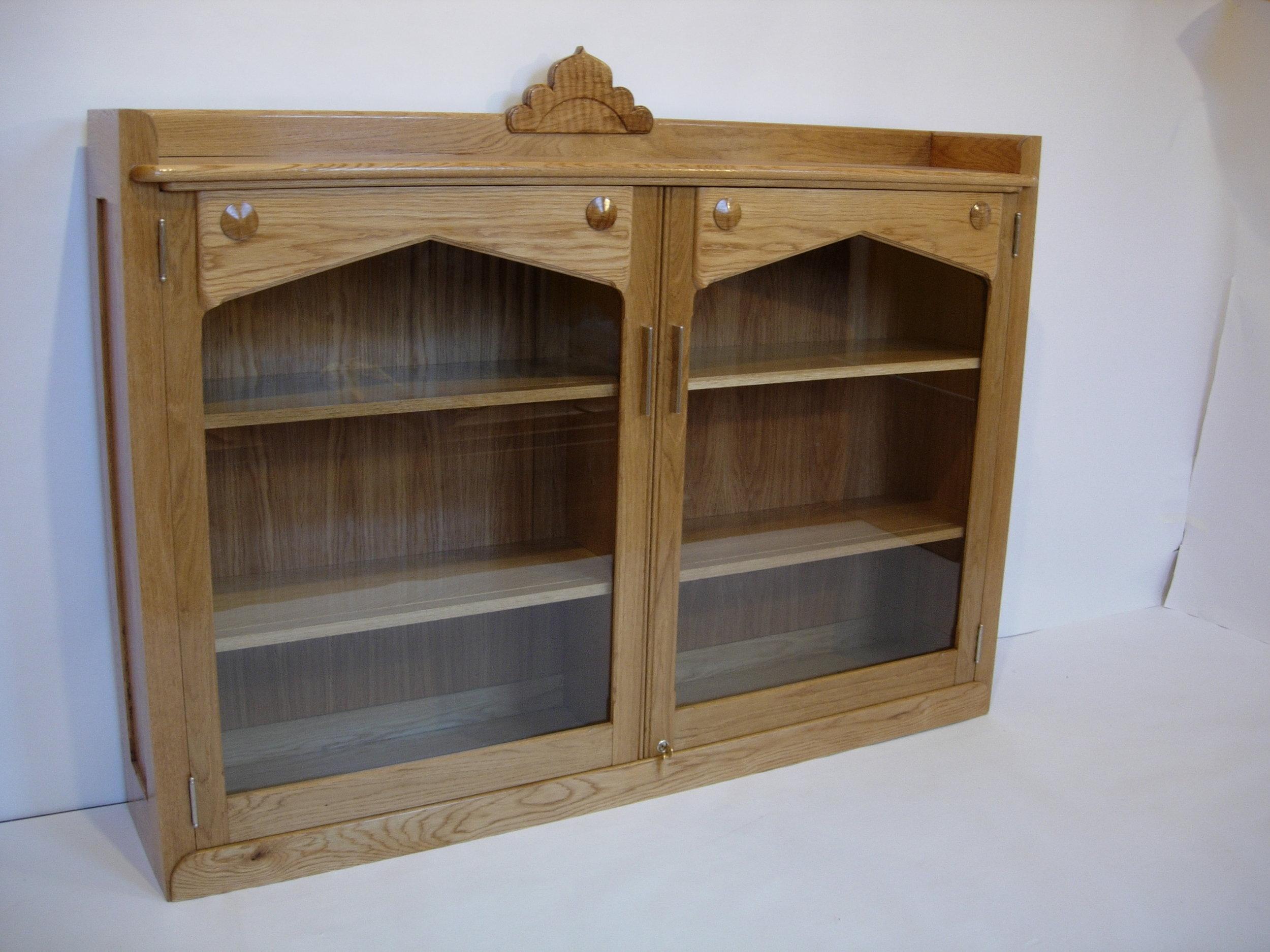 Deco Bookcase in White Oak