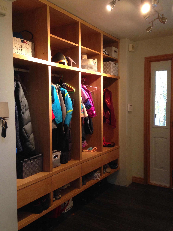 White Oak Entry Cabinets